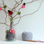 crochet rose bush