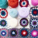 Brighton plaid crochet blanket