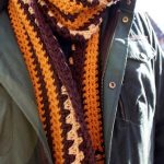 crochet a scarf for a man