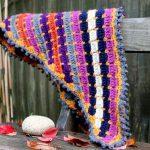 late summer crochet shawl