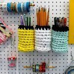 crochet pegboard storage po
