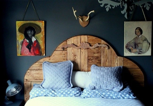 lazy daisy jones Bedroom redecoration handmade bed