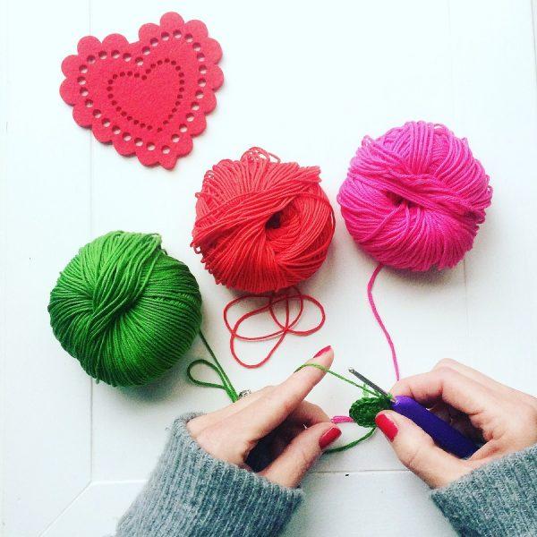 Annaboo's house hands crocheting