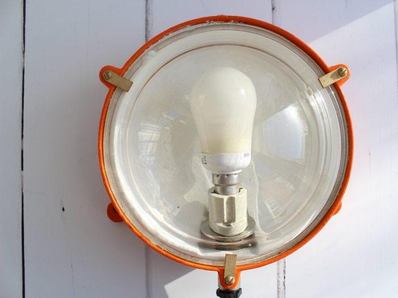 newly restored industrial wall light