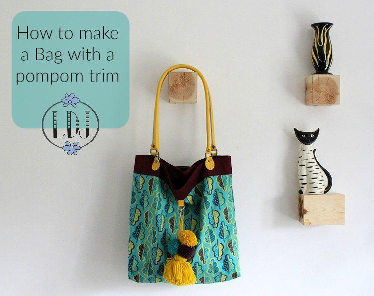 how to make a bag with a pompom trim by lazy daisy jones