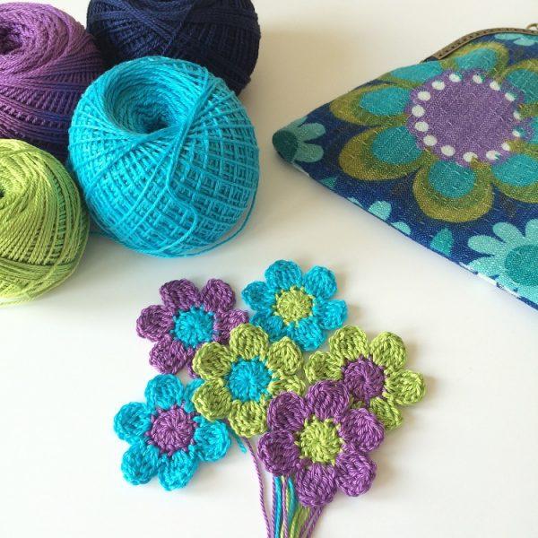 retro colour yarn and fabric