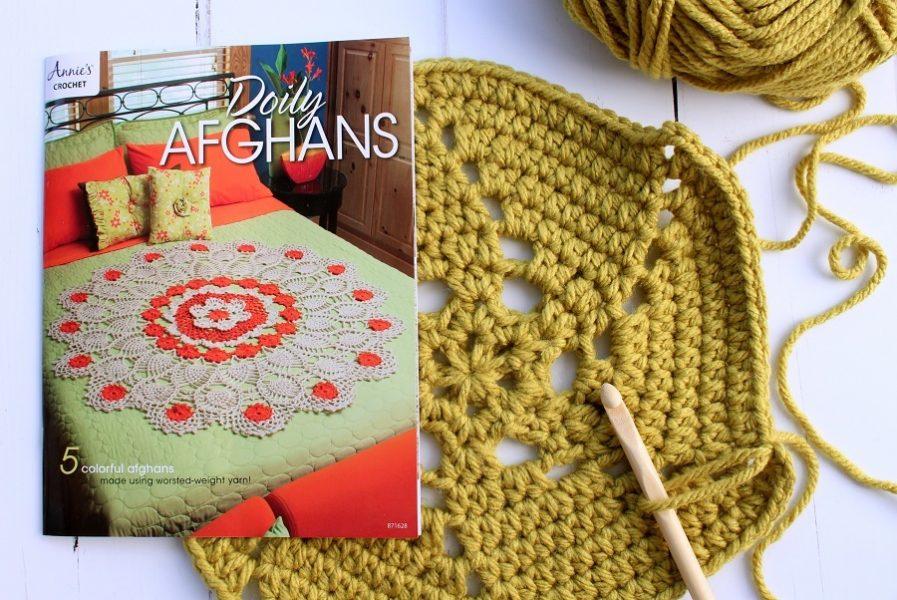 doily afghans crochet pattern book