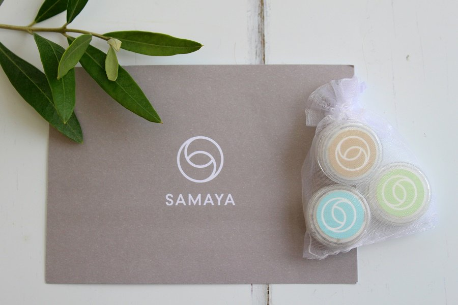 Samaya natural skincare products samples
