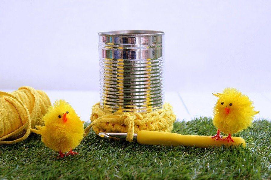 crochet plant pot holder gift idea