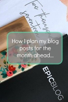 How I organise my Blog post planning