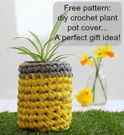Free crochet pattern how to crochet a plant pot holder.