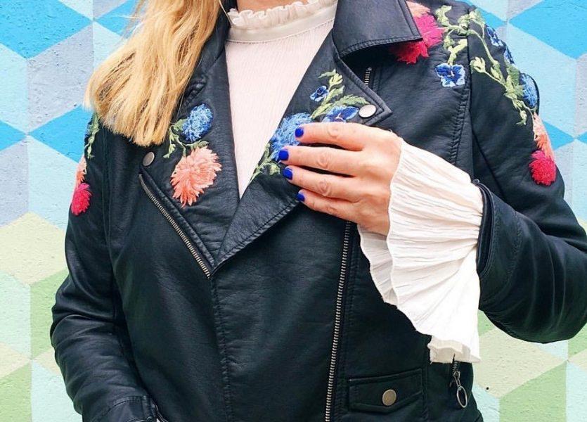 Spring Jacket embroidered biker jacket JD williams