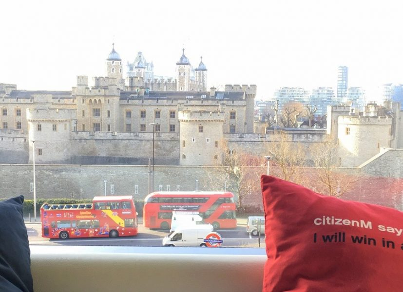 View from CitizenM hotel tower hill london