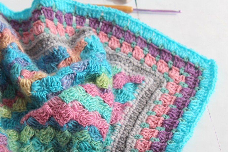 April crochet plans a candy c2c blanket