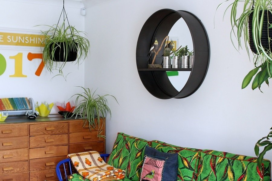 Industrial Mirror has transformed our smallest sitting room!