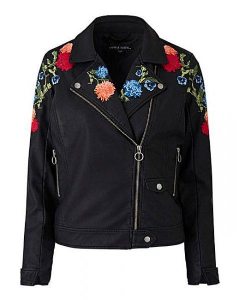 lazy daisy Jones' Spring Jacket an embroidered biker jacket JD williams