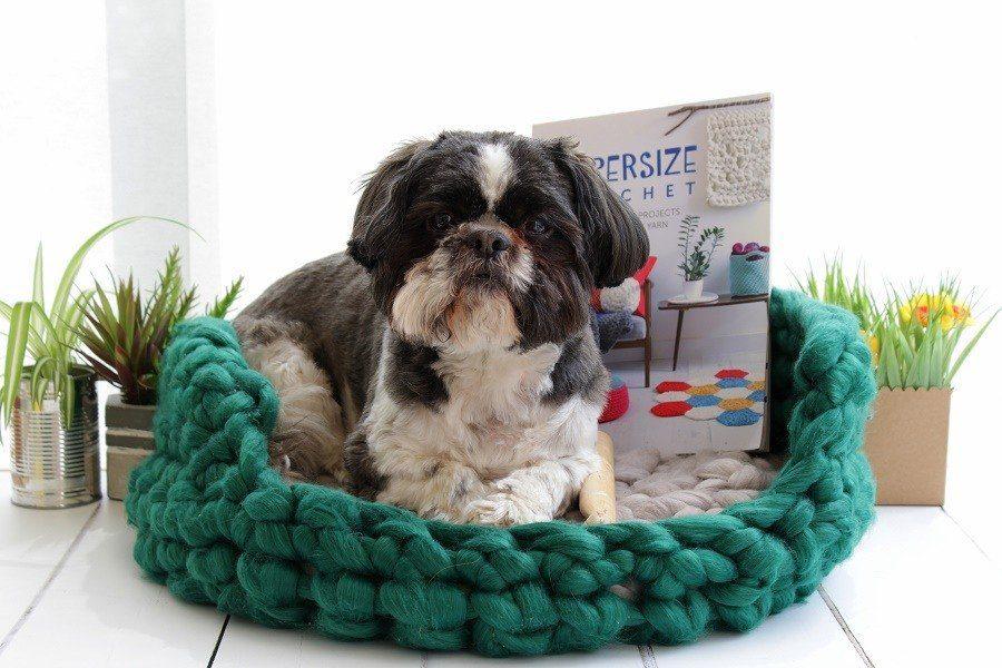 Super size crochet pet bed sarah shrimpton