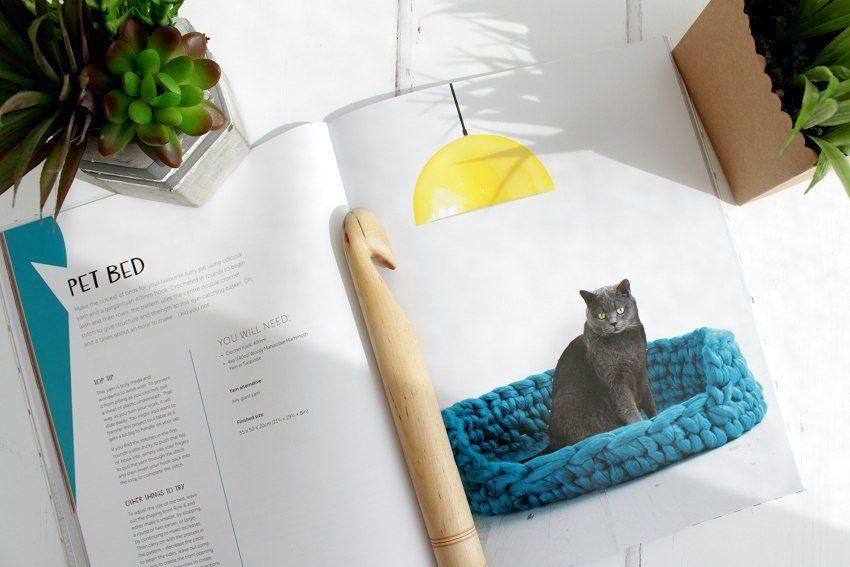 super size crochet pet bed