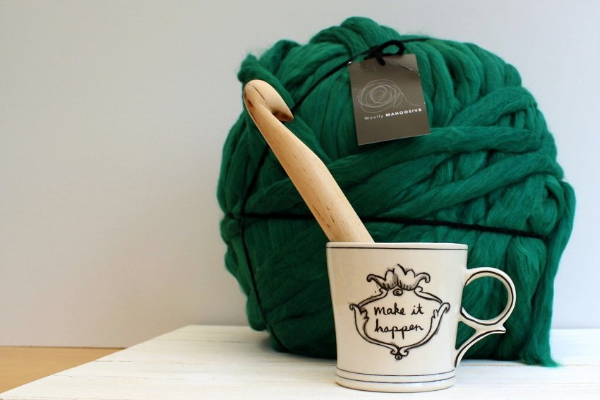 woolly mahoosive yarn on lazy daisy jones