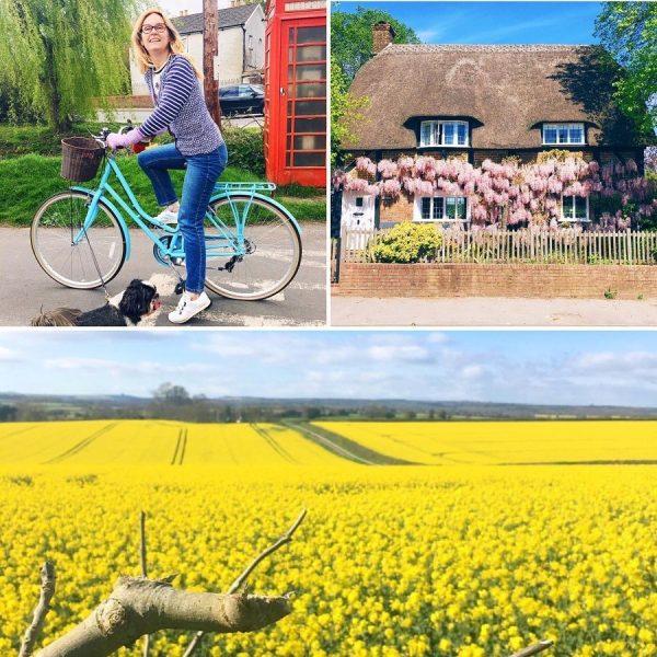 Lazy daisy jones gets on her bike.