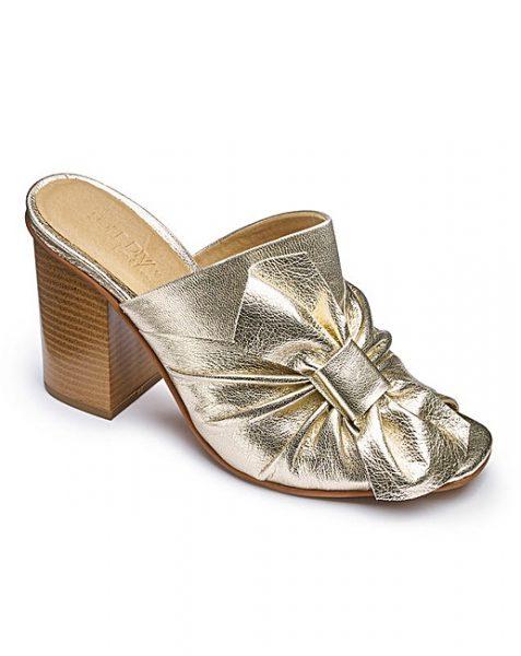 J D williams gold mules