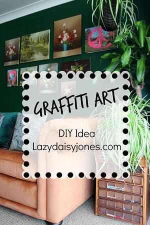 graffiti art diy lazy daisy jones blog