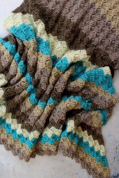 Crochet Catch up July, my C2C Blanket