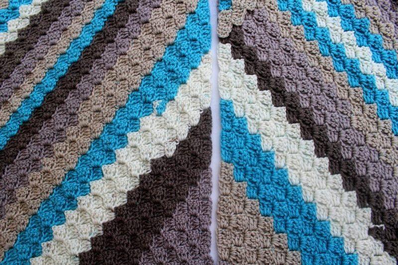 c2c crochet blanket progress by lazy daisy jones