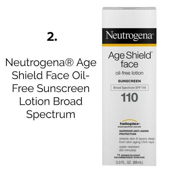 latest beauty buys Neutrogena® Age Shield Face Oil-Free Sunscreen Lotion Broad Spectrum