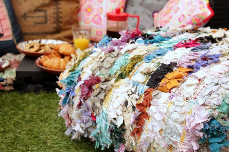 The moroccan bazaar rug and cushion