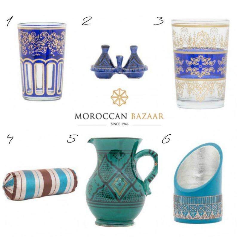 Moroccan Bazaar collage for patio picnic ideas