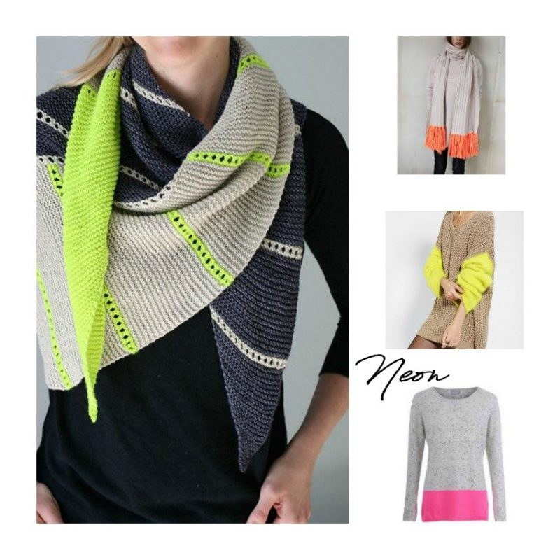 neon and neutrals crochet yarn trend