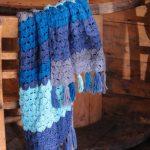 Indigo Waves Shawl free crochet pattern by lazy daisy jones