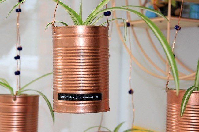 Update A Tin Can diy Mobile Plant Hanger.