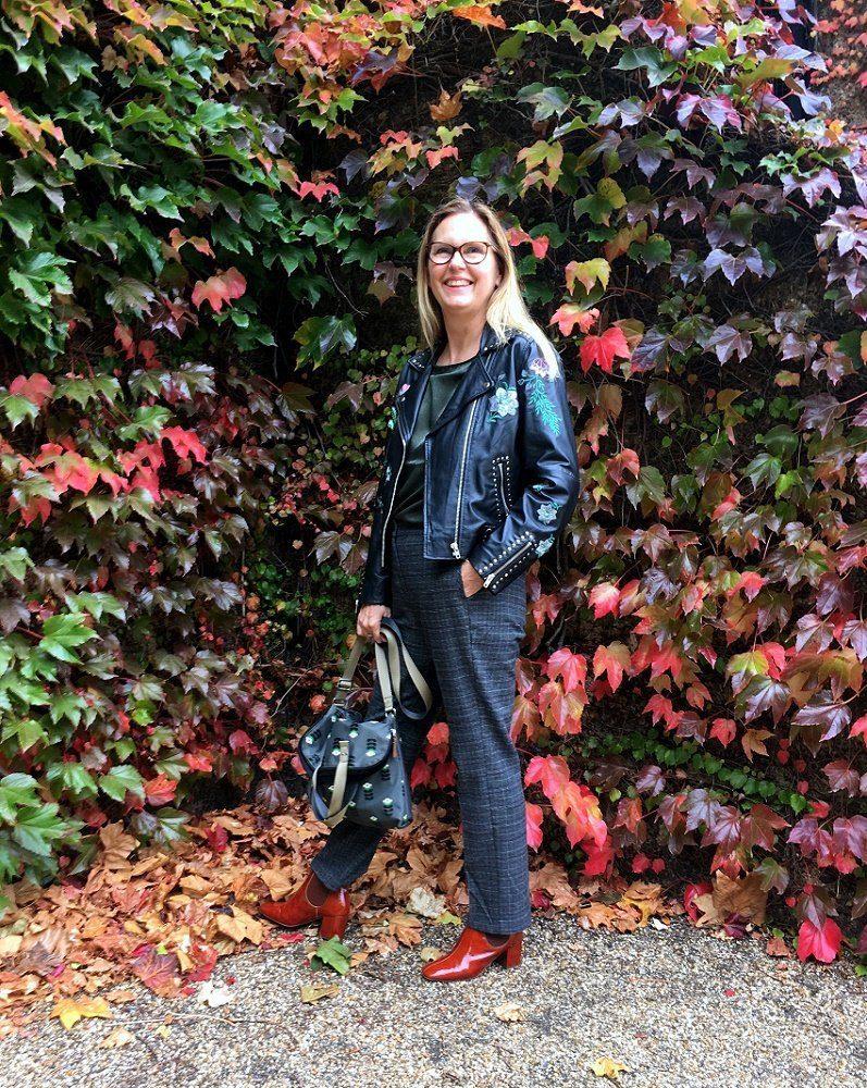 Embroidered leather biker jacket lazy daisy jones