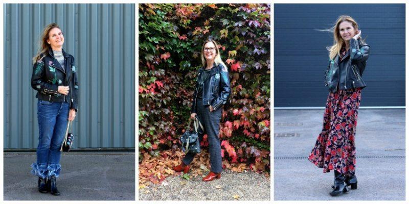Embroidered Leather Biker Jacket 3 ways...