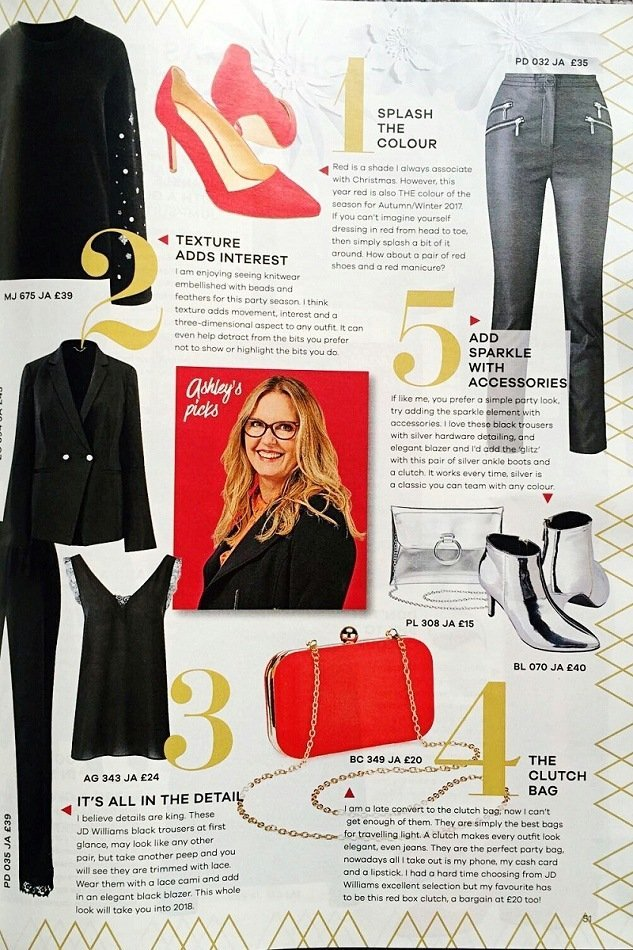 november 17 Ashley in JD Williams lifestyle magazine