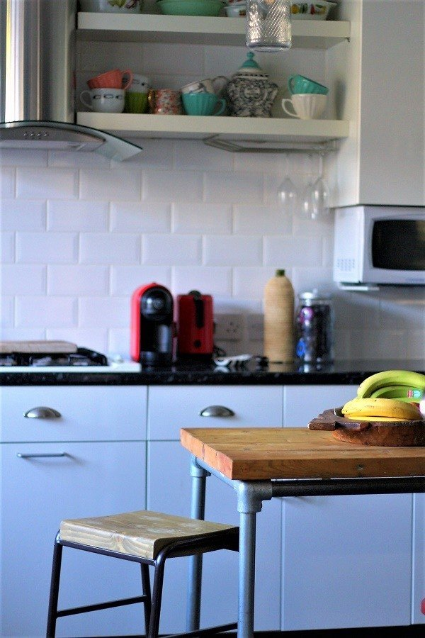 Kitchen Recycled industrial wooden stools by lazy daisy jones