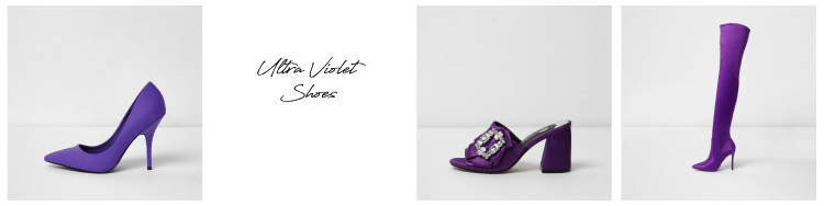 Pantone ultra violet shoe colours
