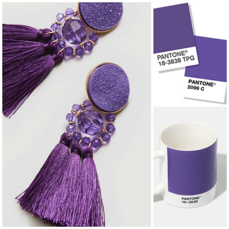 pantone ultra violet colour of the year earrings