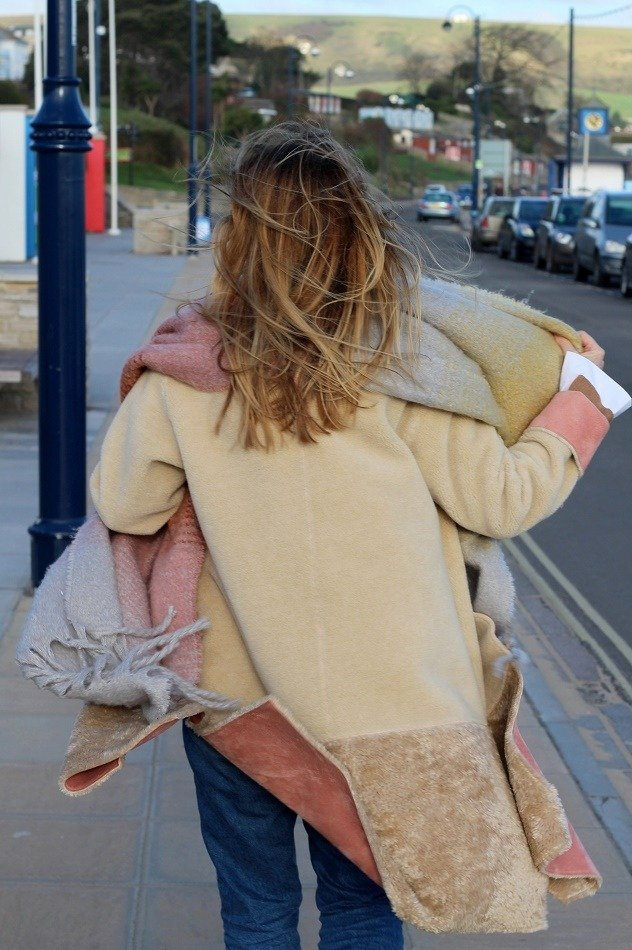 image of Swanage on windy day