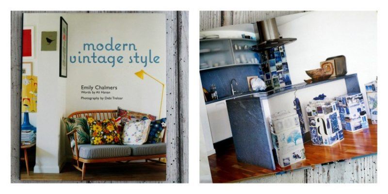 Image of the modern vintage style interior design books by emily chalmers