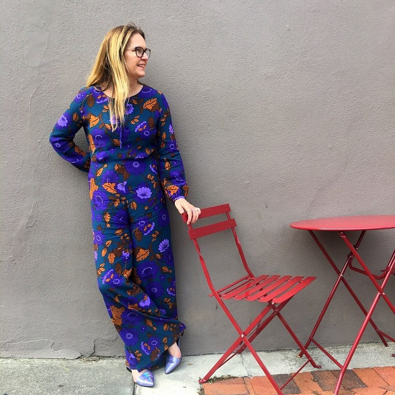 mango purple Jumpsuit and a minor Disaster