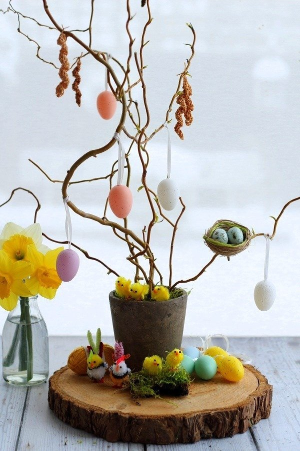 Crochet Catkin Tree Decoration a Spring Easter DIY Tutorial