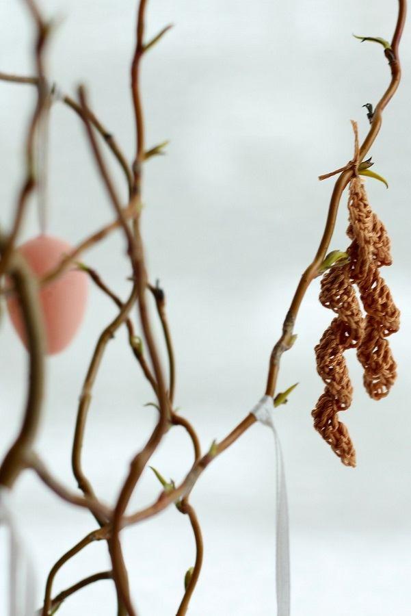 Crochet Catkin Tree Decoration a Spring Easter DIY Tutorial
