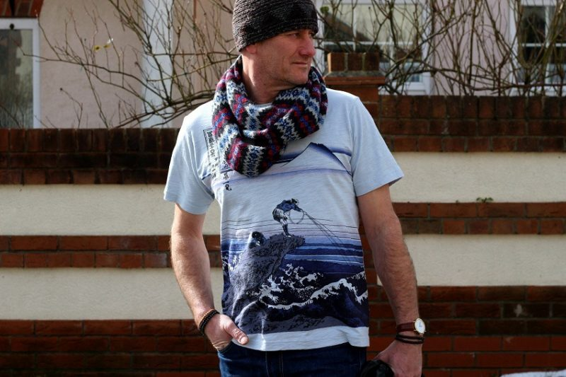 uniqlo hokusai mens t-shirt