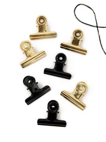 Gold Bulldog clips