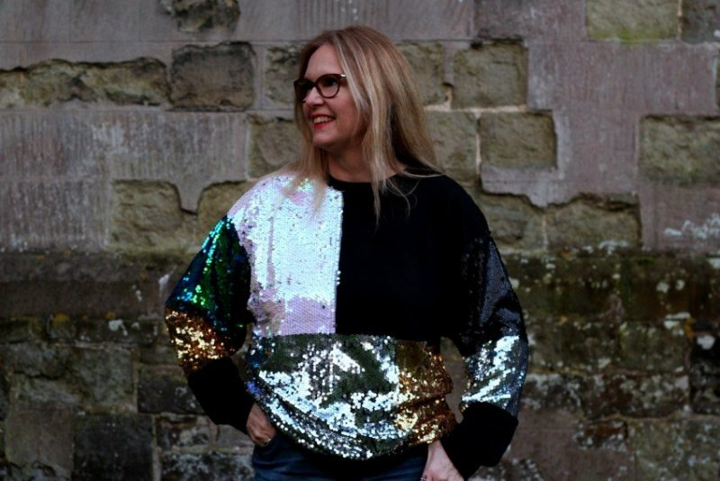 A Bargain Sparkly Sequined Zara Sweatshirt