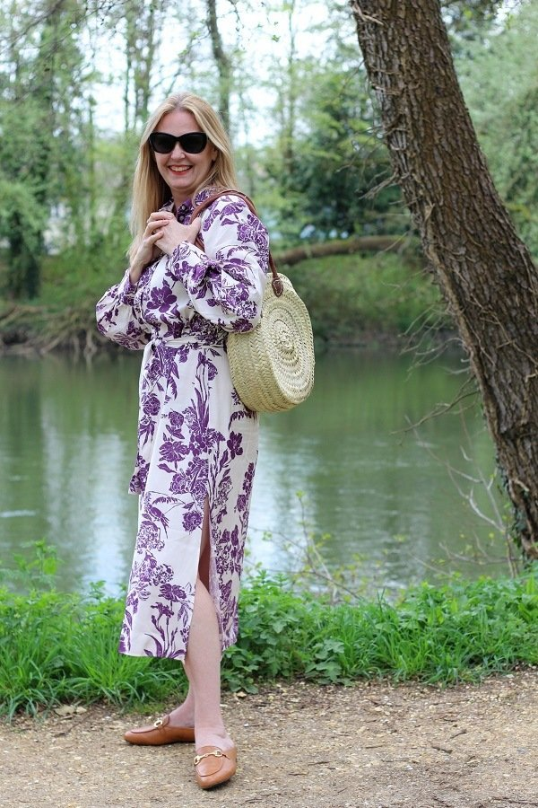 Sunday Memories a Riverside Stroll in a Floral Dress + Vionic Shoes