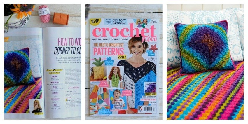 crochet Now Issue 5 lazy daisy jones c2c blanket